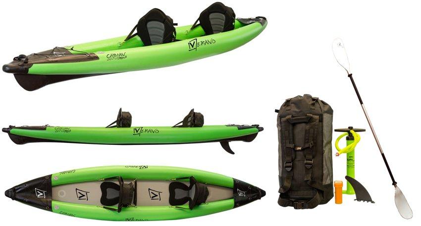 Schlauchboote Verano California Duo Luftkajak Kanu Kajak aufblasbar